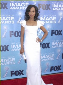 A vision in white at the 42nd NAACP Image Awards Photo Credit: Apega/WENN.com