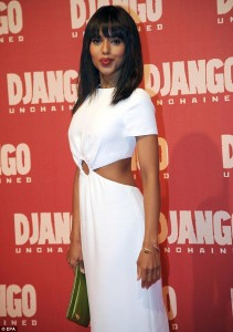 "Washington at the Rome Premiere of ""Django Unchained"""